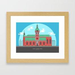 Stockholm - Sant Jacobs Church Framed Art Print