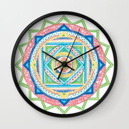 A Colourful Harmony #3 Wall Clock
