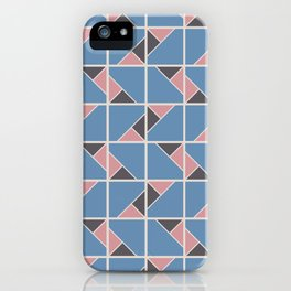 Retro Geometry surface pattern (Pink-blue) iPhone Case