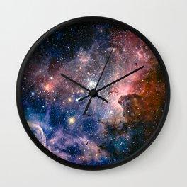 Carina Nebula's Hidden Secrets Wall Clock