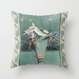 alpine fish Throw Pillow