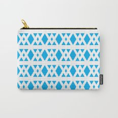 Triangles Pattern (Blue) Carry-All Pouch