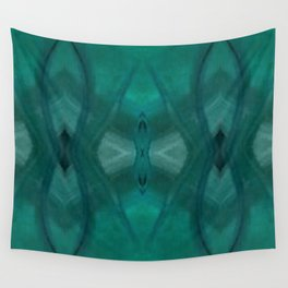 Patterns III Teal Wall Tapestry