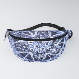 Blue and White Portuguese Porcelain Plate Fanny Pack