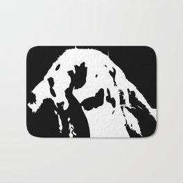 Black & White English Lop Bath Mat