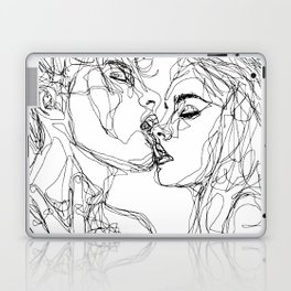 kiss more often (B & W) Laptop & iPad Skin