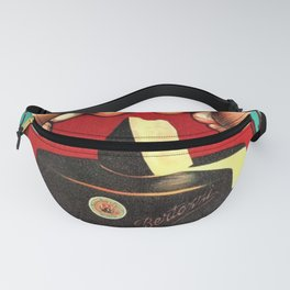 Vintage Parmigiano Reggiano Bertozzi Cheese Advertisement Wall Art Fanny Pack