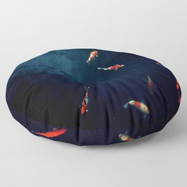 Koi Around Floor Pillow