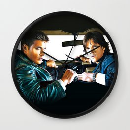 Sam and Dean Supernatural Wall Clock