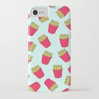 fries iPhone & iPod Cases featuring Fries by weheartstore