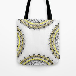 Yellow rings and spirals Tote Bag