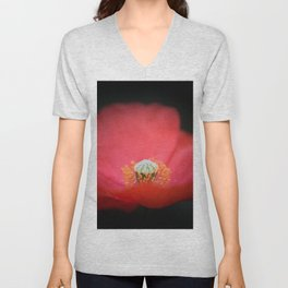 Red flower India Unisex V-Neck