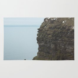 Castle on top of the Cliffs of Moher Rug