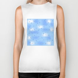 Water dops with sky background Biker Tank