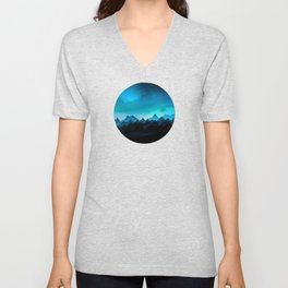 Night Storm In The Mountains Unisex V-Neck