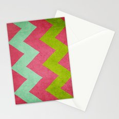 Cocktails with Lilly - Pink, Aqua, Green Chevron Stationery Cards