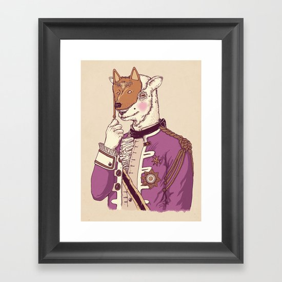 LAMB´S DISGUISE PARTY TEE Framed Art Print