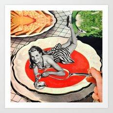 Red Goo Art Print