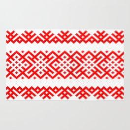 Pattern - Bogoroditsa - Slavic symbol Rug