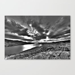 HDR Sunrise - Kamloops, BC Canvas Print