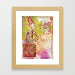 Lucky Miss by Jane Davenport Framed Art Print