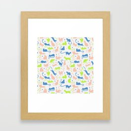 cats, cats and other cats Framed Art Print