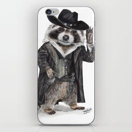 Raccoon Bandit iPhone Skin