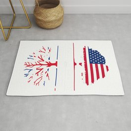 American Grown British Roots - Britain Union Jack T-Shirt Rug