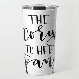 The Cory to her Topanga Travel Mug