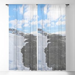 Triforce of Fire, Ice, & Sky Sheer Curtain
