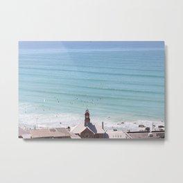 Busy Beach Metal Print