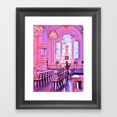 Praying in Pink Framed Art Print