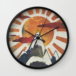 Mount Spitfire Wall Clock