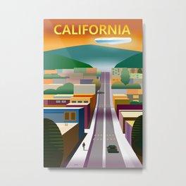 California Street Poster Metal Print