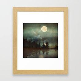 Midnight Fireflies Framed Art Print