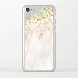 Mountains are high Clear iPhone Case