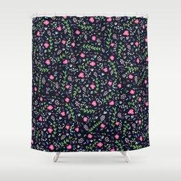 Blossoming flowers in an Italian garden Shower Curtain