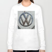 vw bus Long Sleeve T-shirts featuring Rusty VW Bus Symbol by wildVWflower