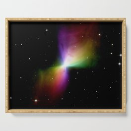 rainboW Space Boomerang Nebula Serving Tray