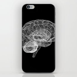 DELAUNAY BRAIN b/w iPhone Skin