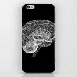 DELAUNAY BRAIN b/w iPhone Skin