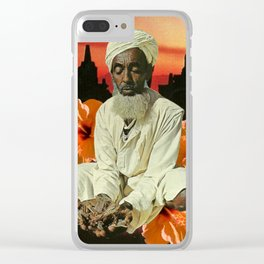 Contemplation Clear iPhone Case
