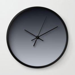 Grey Ombre . Gradient . Wall Clock