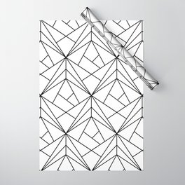 Black and White Geometric Pattern Wrapping Paper