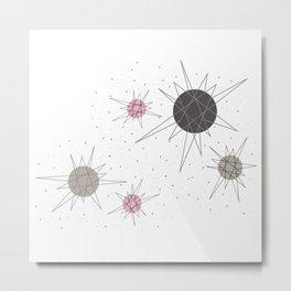 Atomic Stars Pink Metal Print