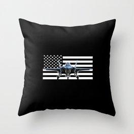 F-35 (Black Flag) Throw Pillow