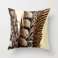 into the wild Throw Pillows featuring Wild by Charlene McCoy