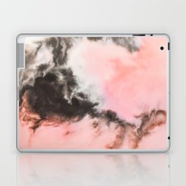 Pink and black marbled paper Laptop & iPad Skin
