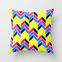 CYMK Chevron Throw Pillow