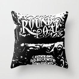 Round Oak Furnace Throw Pillow
